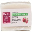 Olive oil soap with pomegranate - 100g by Manis Rose
