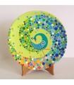 Handmade mandalar plate with peacock motif