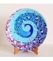 Handmade mandalar plate blue peacock motif