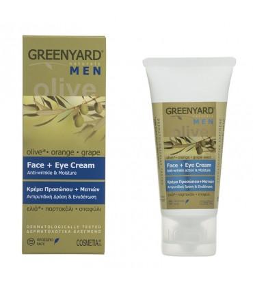 Greenyard face and eye cream for man