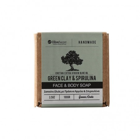 Natural soap for face and body - by Olive Secret - 100 gr
