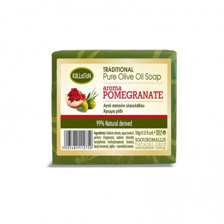 Trad. Olive Oil Soap Pomegranate