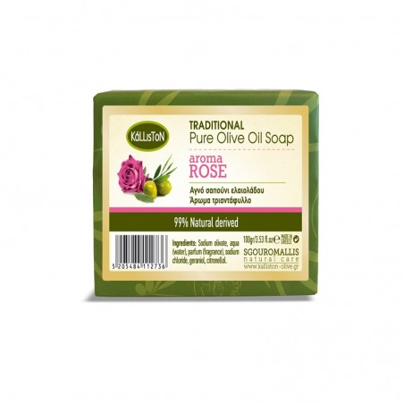 Kalliston Pure Olive Oil Soap with Rose