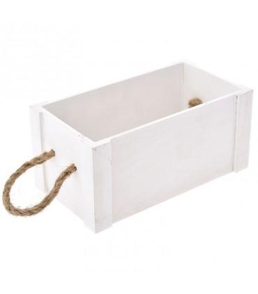 Beautiful wooden box white