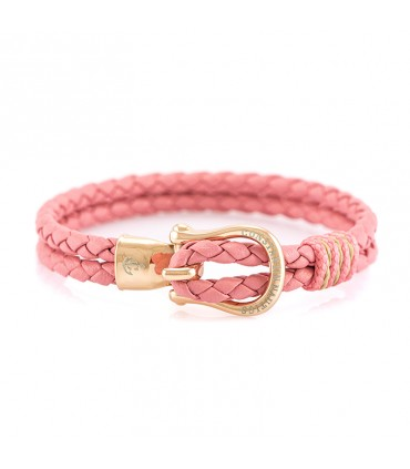 Constantin Maritime Leather Wristband, Pink